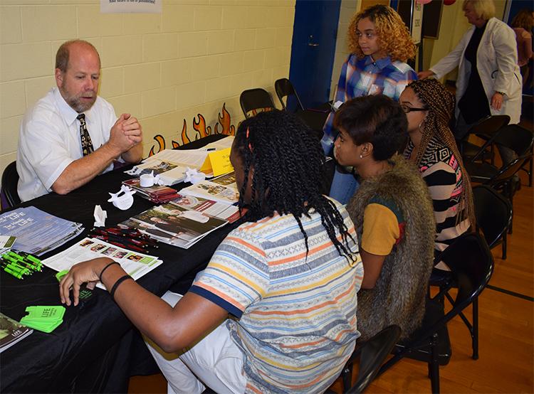 Dr Gary Sullivan attended a career fair November 8th