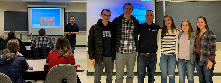 Drs. Anthony and Casen DeMaria had the opportunity to speak to students at Messiah College about health, chiropractic and Life U.