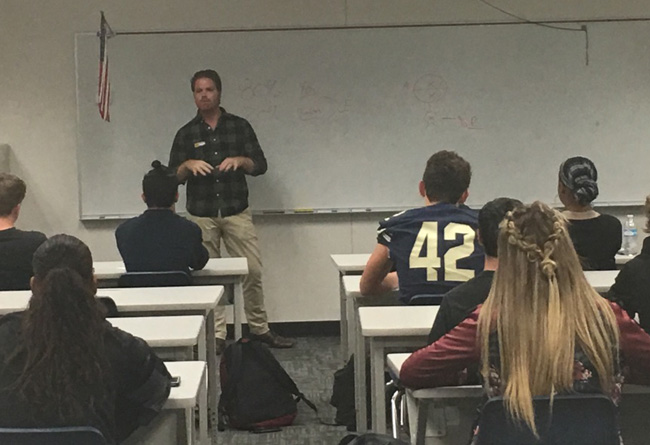Dr. Tony Janssen inspiring the next generation of future chiropractors at Casteel High School in Queen Creek, AZ